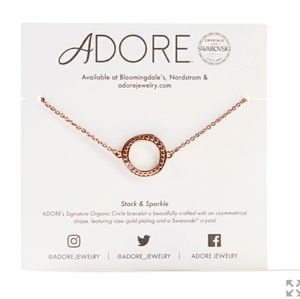 Adore by Swarovski Circle Rose Gold Bracelet